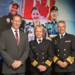 Honourable Peter MacKay, Minister of National Defence_ Arlene Dickinson_Vice-Admiral Paul Maddison, Commander Royal Canadian Navy